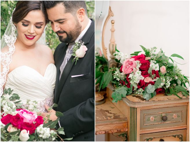 Ana Karen and German's beautiful burgndy wedding at La Casona