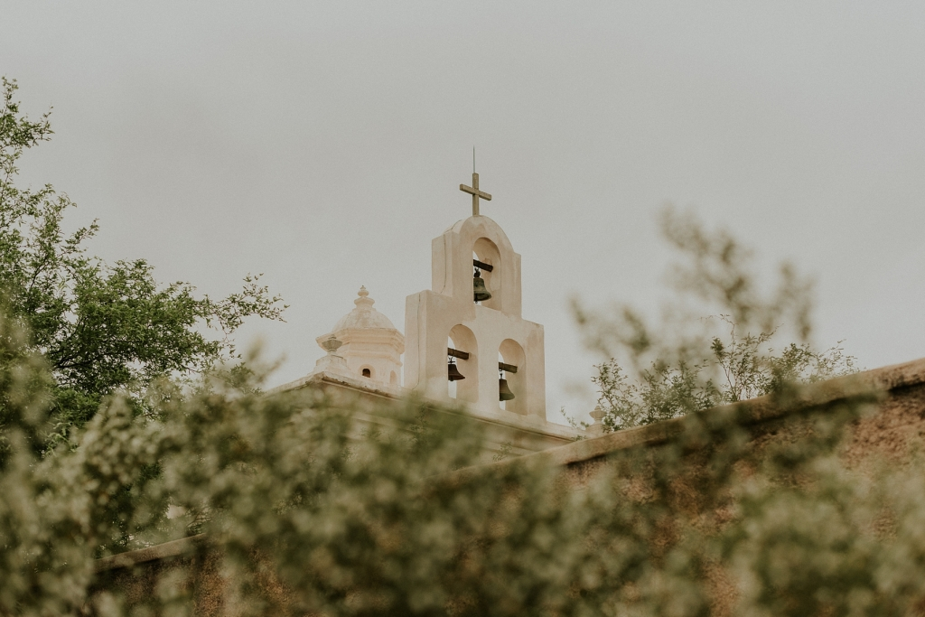 San Xavier Mission in Tucson, Arizona photographed by Sue Ellen Aguirre Photography